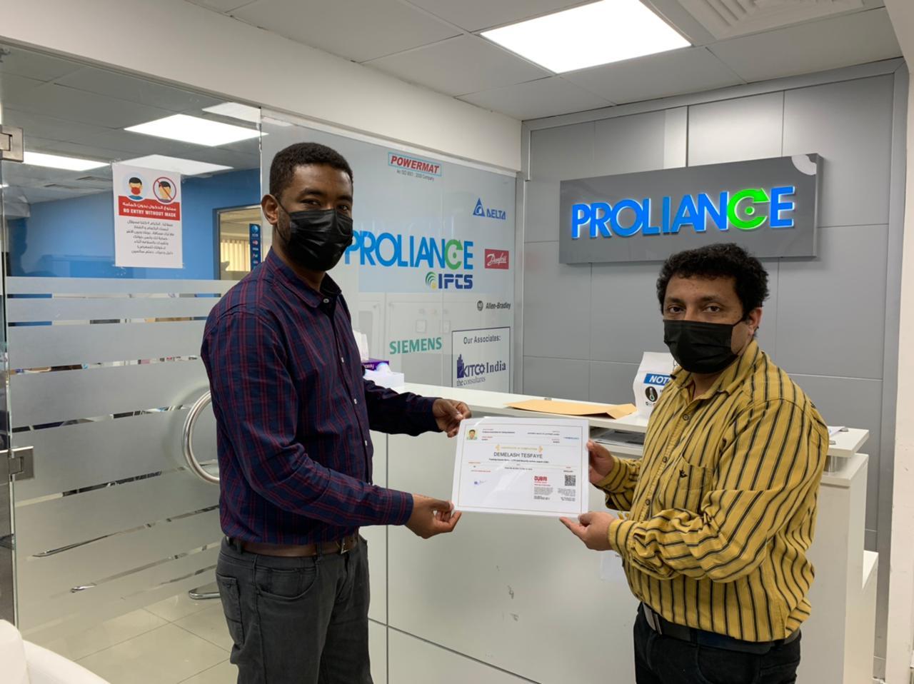 Demelash cctv - Proliance Automation & Training Solutions (IPCS-Dubai)