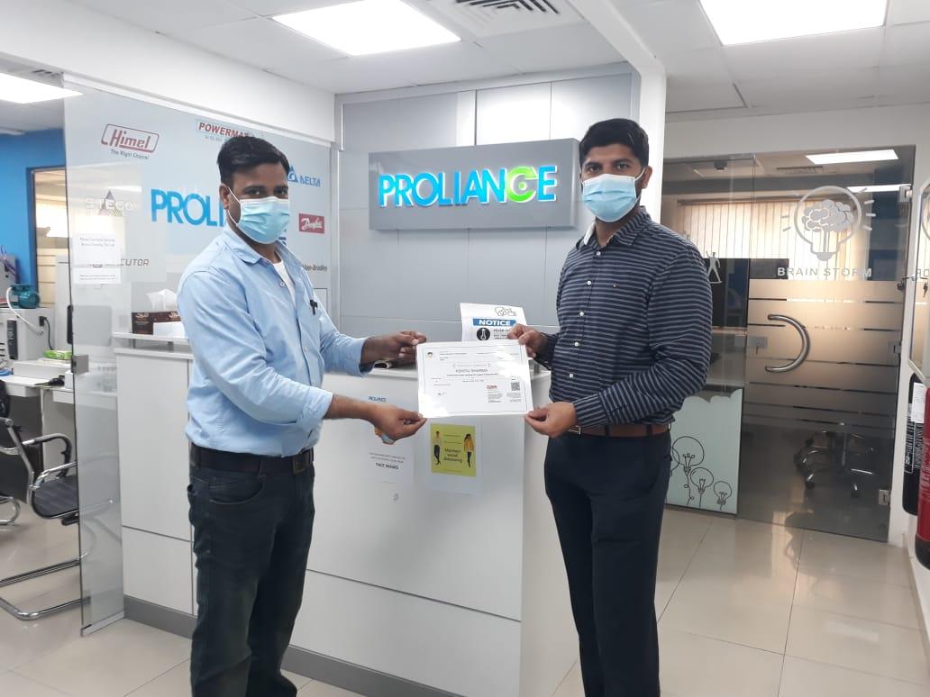 Kshijit  certifiacte - Proliance Automation & Training Solutions (IPCS-Dubai)